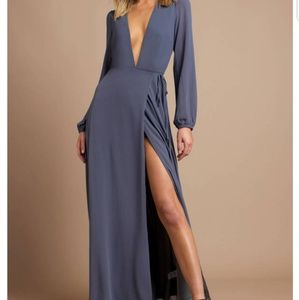 Tobi Deep Plunge Wrap Maxi Dress